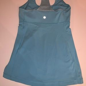 Lululemon blue tank with built in sports bra